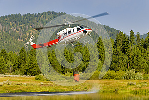 Small Helicopter water out pond