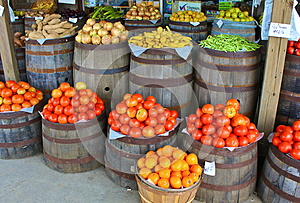 Tomatoes and Other Produce At Country Store