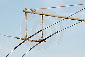 Trolleybus wires