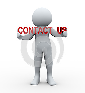3d person and contact us