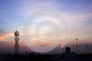 Antenna with morning time