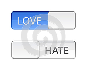 Love hate slide button