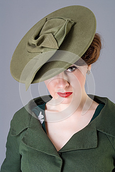 Forties vintage vogue style high fashion woman