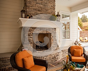 Cozy fireplace relaxation