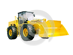 Front loader isolated