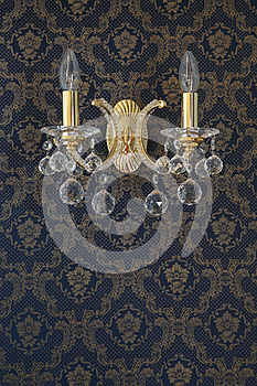 Vintage Wall Lamp with the luxuary wall Texture