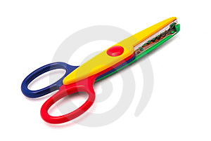 Colorful childhood scissors