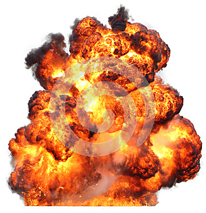 Explosion fireball isolated fire