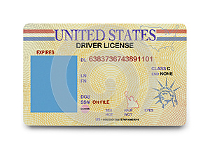 Blank Driver License