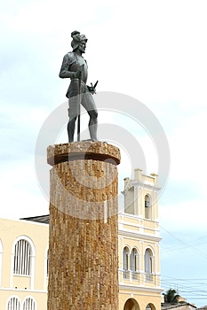 Monument to the founder of the city Riohacha German conquistador Nikolaus Federmann