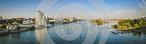 The panorama. the river Don, Rostov-on-don