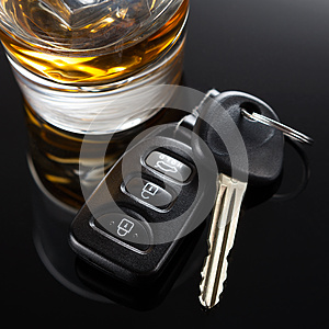 Car Keys and Alcoholic drink