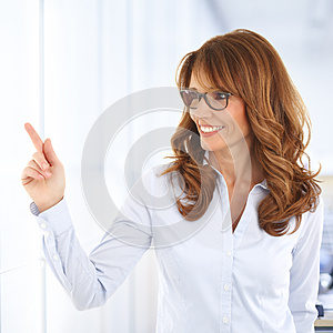 Sales woman portrait