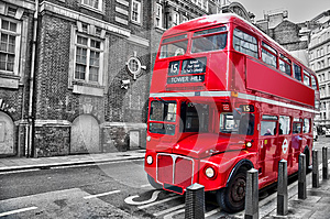 Londoner red double decker vintage bus