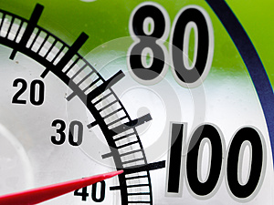 Heat Wave 100 Degree Window Thermometer