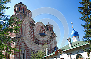 Two Orthodox churches: Serbian and Russian churches in Belgrade