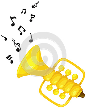 Cute trumpet with melody