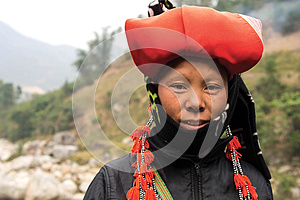 Woman from Red Dao Minority Group in Sapa, Vietnam