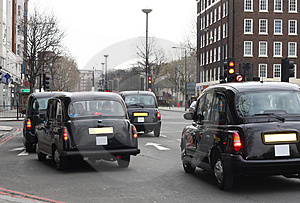 Black taxis in London