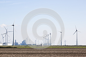 Traditional and renewable windmills in the Netherlands