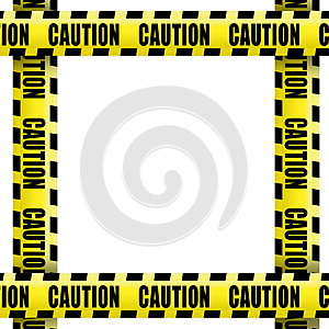 Caution tape frame