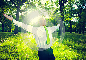 Business Relaxation Green Fresh Success Concept