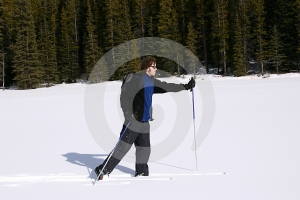 Cross Country Skiing in the Mountains