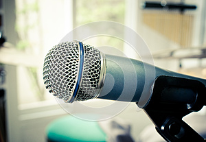 Microphone in music room