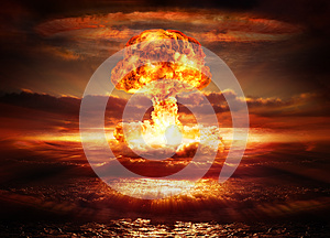Explosion nuclear bomb