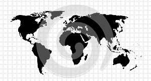 Black vector map of the world