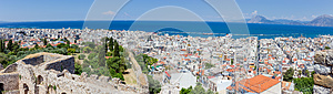 Panoramic view of Patras from the fortress, Greece