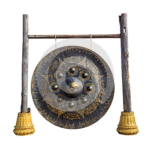 Thai gong isolated on white background