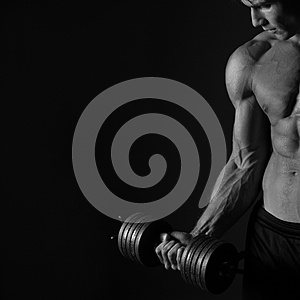 biceps workout sport background