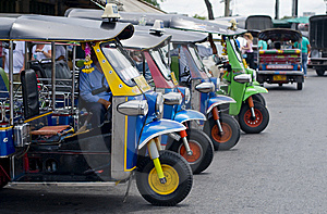 Tuk tuk taxis in bangkok