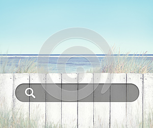 Beach Fence Relaxing Scenics Sea Concept