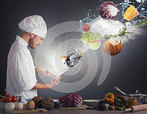 Cooking recipe from tablet