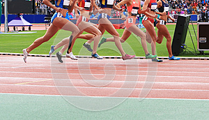 Athletes compete in race