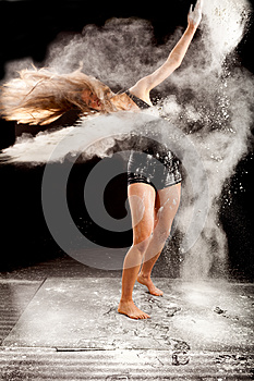 Powder contemporary dancer