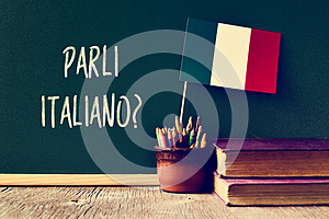 Question parli italiano? do you speak Italian?