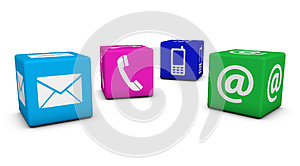 Contact Us Colorful Cubes