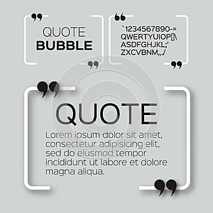 Quote bubble.