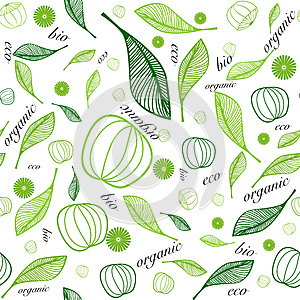 Organic eco seamless background