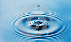 Water Drop and ripple in the water