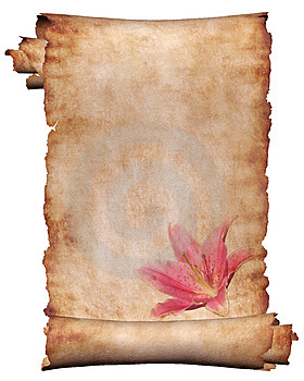 Manuscript with flowers 3