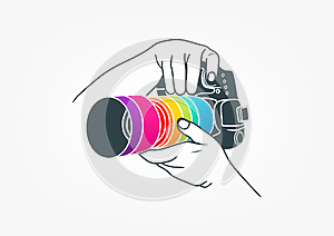 Photography logo, camera concept design