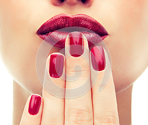 Luxury fashion style, manicure nail , cosmetics and makeup.
