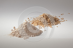 Pile of sorghum and sorghum flour