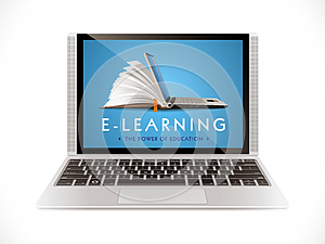 E-learning concept - internet network
