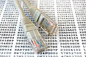 Network cable and encryption key