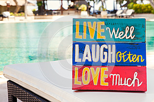 Inspirational Motivational Life Quote wooden board